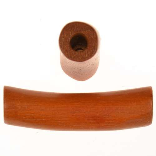 Redwood Slide Large Hole Tube Curved 35x8mm - piece
