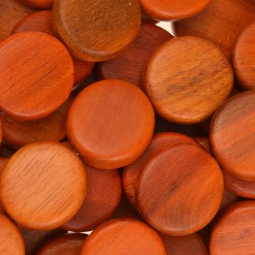 Redwood Bead Coin 15mm