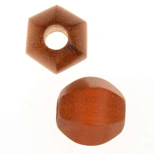 Redwood Slide Large Hole Round Six-Sided 15mm - piece