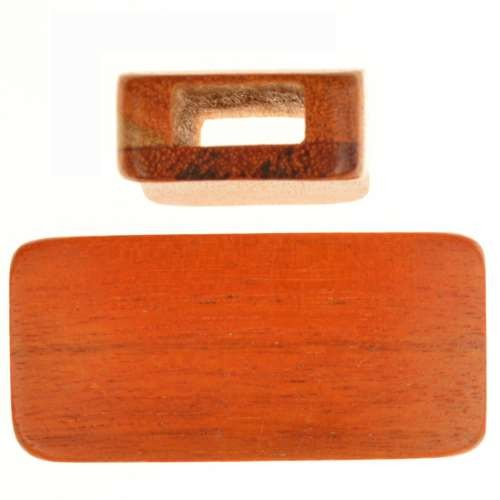 Redwood Slide Large Hole Rectangle 42x20mm - piece