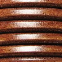 Regaliz 10mm Oval Leather Cord - Distressed Whiskey