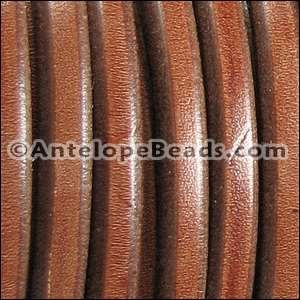 Regaliz 10mm Oval Leather Cord - Tobacco