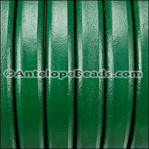 Regaliz 10mm Oval Leather Cord - Kelly Green - per METER