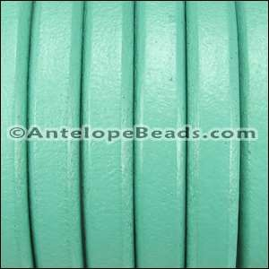 Regaliz 10mm Oval Leather Cord - Turquoise