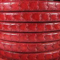 Regaliz Scales 10mm Oval Leather Cord - Red - per inch