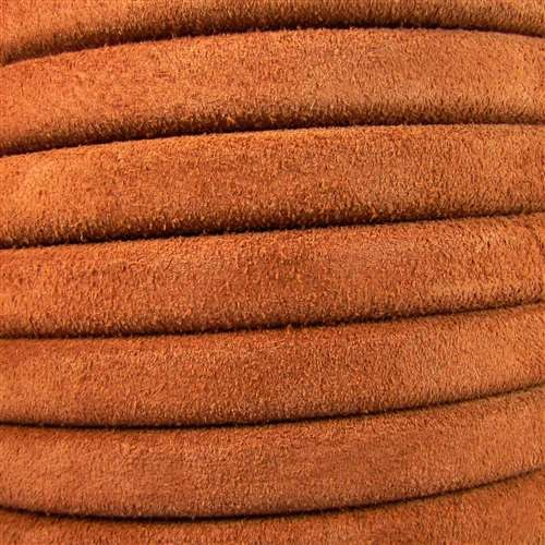 Regaliz Suede 10mm Leather Oval Cord - Camel