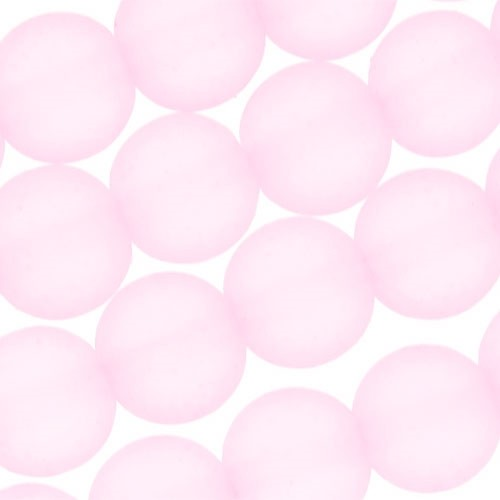 Cultured Sea Glass Bead Round 6mm - Blossom Pink