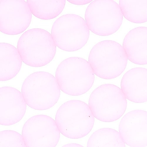 Cultured Sea Glass Bead Round 8mm - Blossom Pink