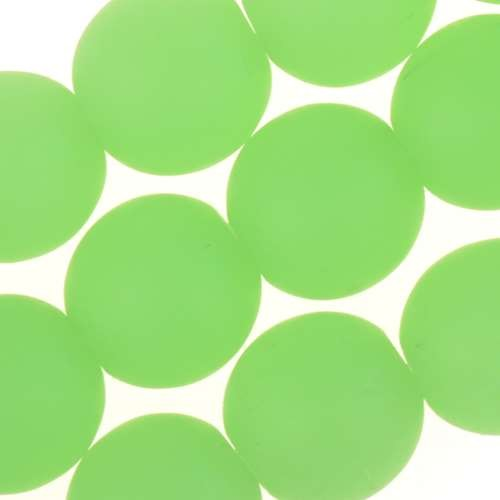 Cultured Sea Glass Bead Round 10mm - Opaque Spring Green