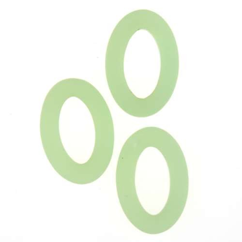 Cultured Sea Glass Ring Oval 22x16mm (2) - Opaque Seafoam Green