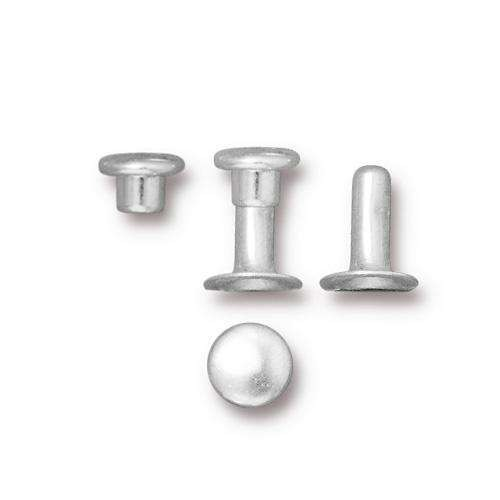 TierraCast Snap Rivets 6mm Bag of 10 - Silver Plated