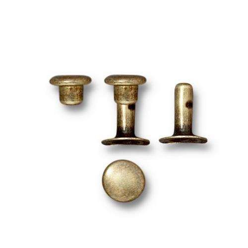 TierraCast Snap Rivets 6mm Bag of 10 - Antique Brass