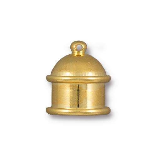 TierraCast Cord End Cap Pagoda 10mm (2) - Gold Plated