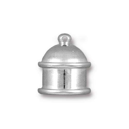 TierraCast Cord End Cap Pagoda 10mm (2) - Silver Plated