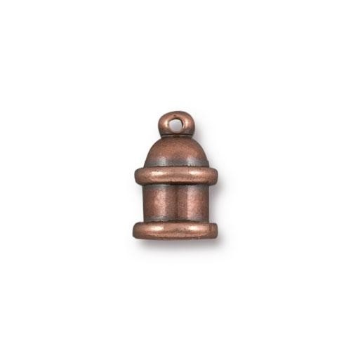 TierraCast Cord End Pagoda 4mm (2) - Antique Copper