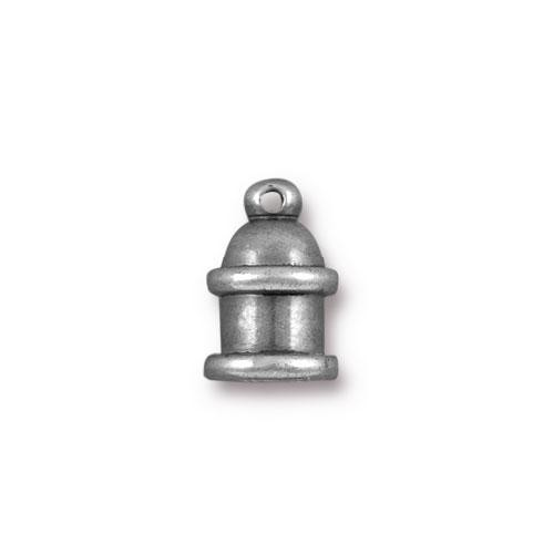 TierraCast Cord End Pagoda 4mm (2) - Antique Silver