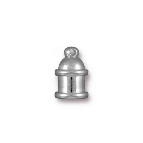 TierraCast Cord End Pagoda 4mm (2) - Silver Plated