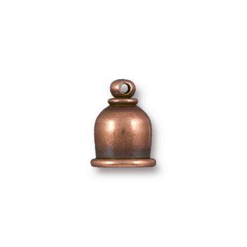 TierraCast Cord End Cap Taj 6mm (2) - Antique Copper