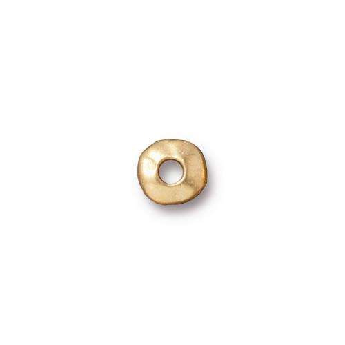 TierraCast Heishi 7mm Nugget - Gold Plated