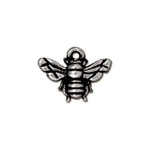 TierraCast Charm Honey Bee - Silver Plate