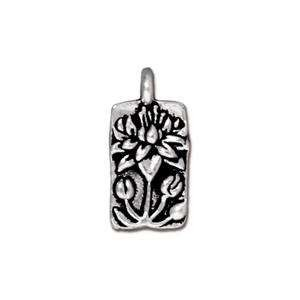 TierraCast Charm Floating Lotus - Silver Plate