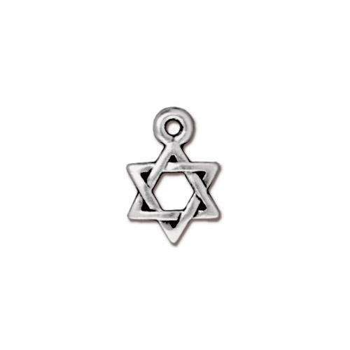 TierraCast Charm Star Of David - Silver Plated
