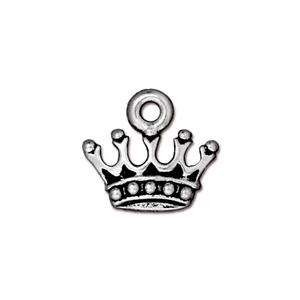 TierraCast Charm King's Crown - Silver Plate