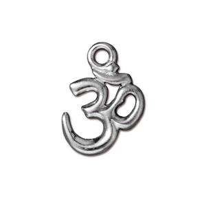 TierraCast Charm Om - Antique Silver