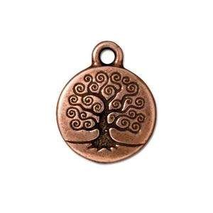 TierraCast Charm Tree of Life - Antique Copper