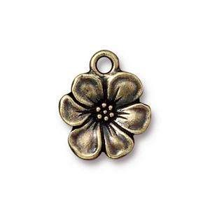TierraCast Charm Apple Blossom - Antique Brass