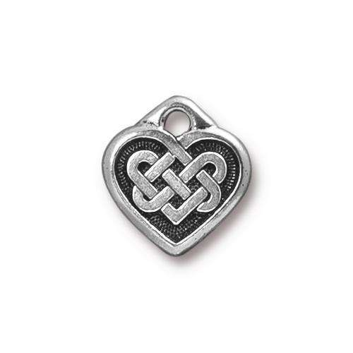 TierraCast Charm Celtic Heart - Silver Plated