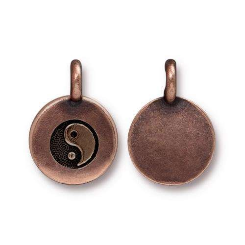 TierraCast Charm Yin Yang - Antique Copper