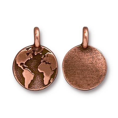 TierraCast Charm Earth - Antique Copper