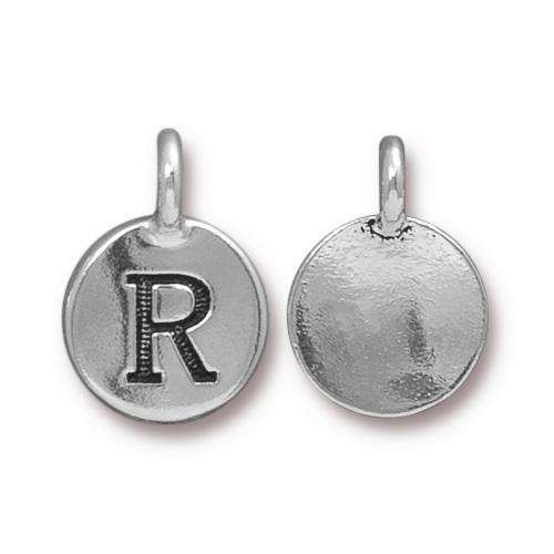 TierraCast Charm Letter R - Silver Plated