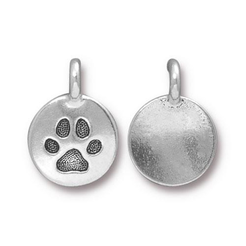 TierraCast Charm Paw - Silver Plated