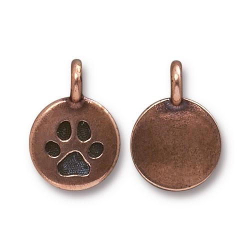 TierraCast Charm Paw - Antique Copper