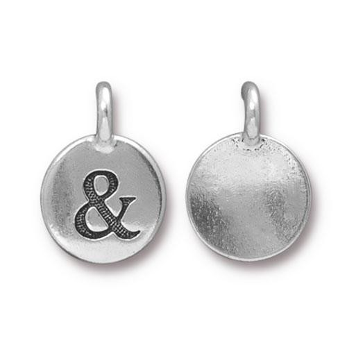 TierraCast Charm Ampersand - Silver Plated