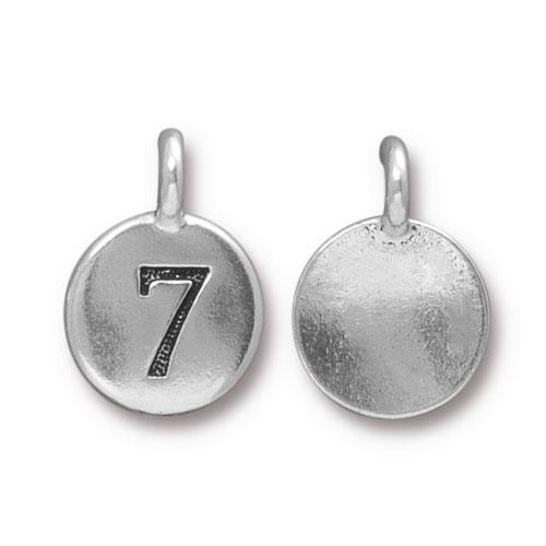 TierraCast Charm Number 7 - Silver Plated