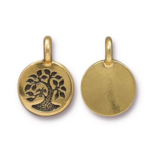 TierraCast Charm Tree - Antique Gold