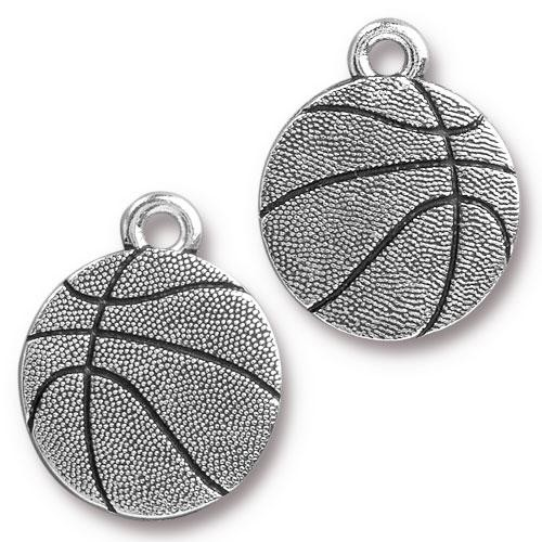TierraCast Charm Basketball - Silver Plated