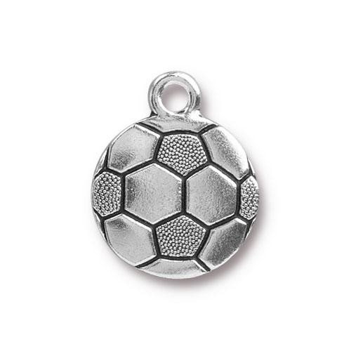 TierraCast Charm Soccer Ball - Silver Plated