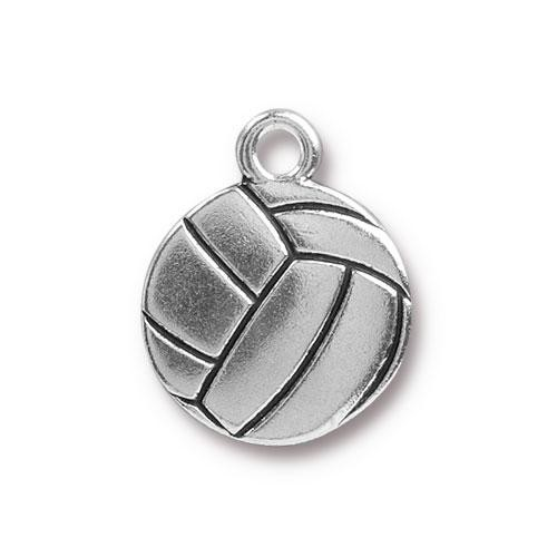 TierraCast Charm Volleyball - Silver Plated