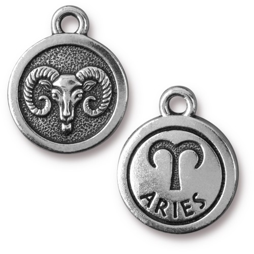 TierraCast Charm Aries - Silver Plate