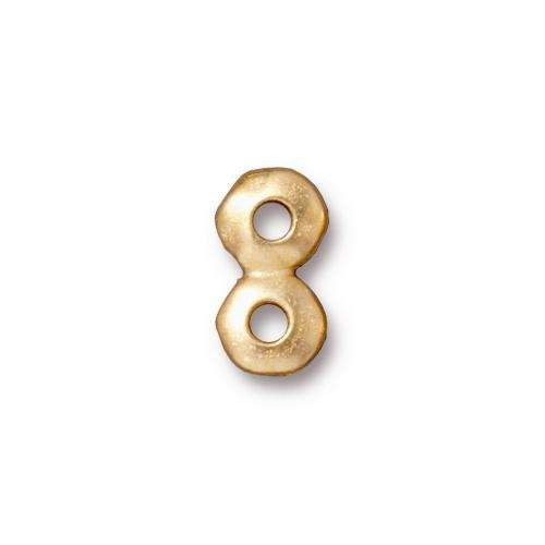 TierraCast Link 7mm Nugget 2 Hole Bar - Gold Plated