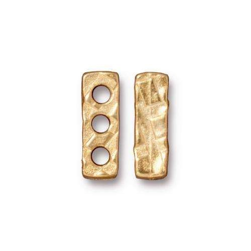 TierraCast Link Rock and Roll 3 Hole Bar - Gold Plated