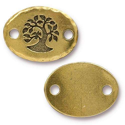 TierraCast Link Bird in a Tree - Antique Gold
