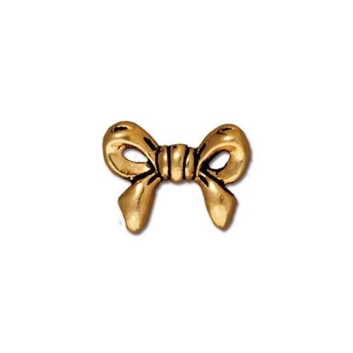 TierraCast Bead Bow - Antique Gold