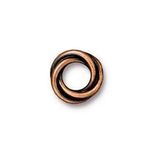 TierraCast Bead Spacer Twisted - Antique Copper