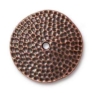 "TierraCast Bead 1"" Hammertone Disk - Antique Copper"