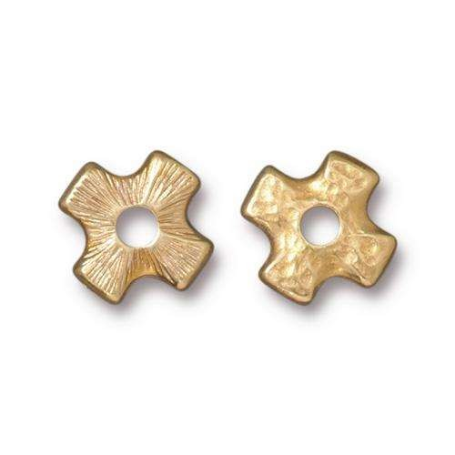 TierraCast Bead Rivetable Cross - Gold Plated